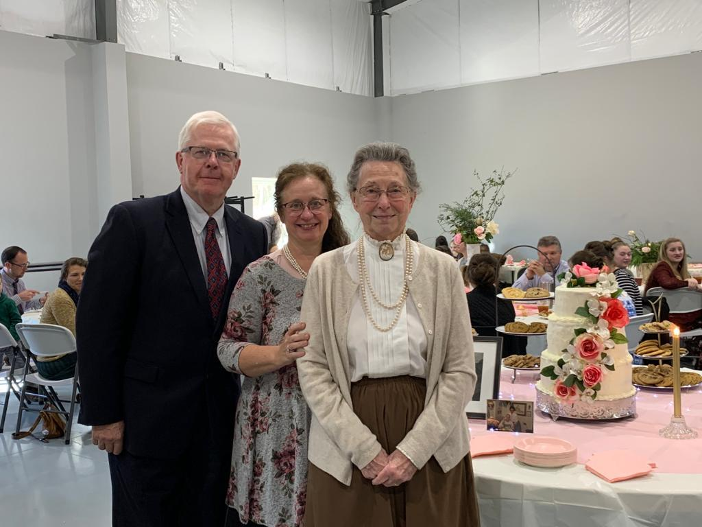 Sis. Carol's 85th birthday celebration in the HBT fellowship hall
